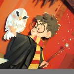 Harry Potter Paper Art Owl Close-up