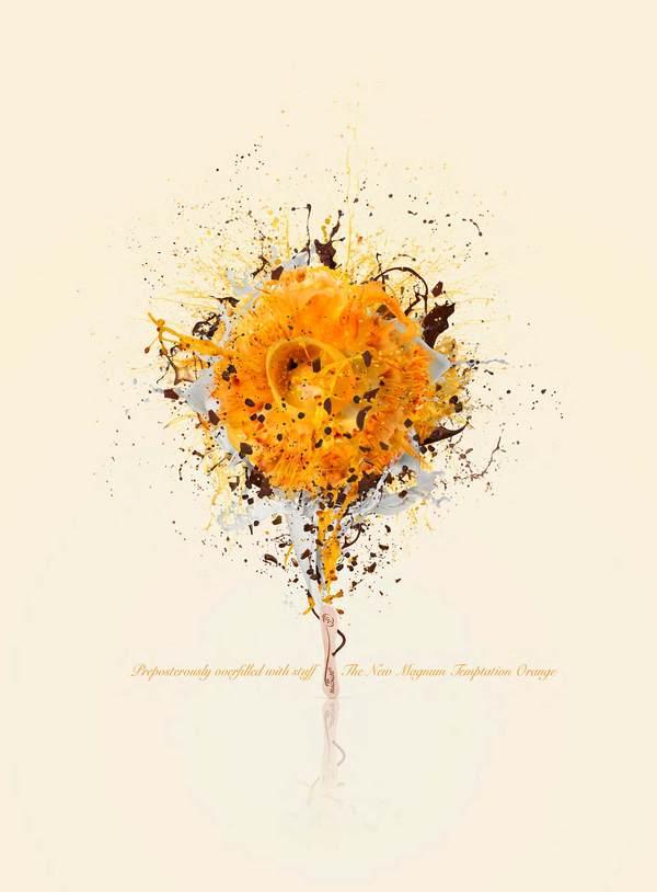 Magnum Orange Explosion Advertisement