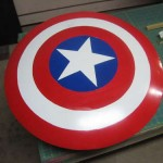 Painted Homemade Captain America Shield
