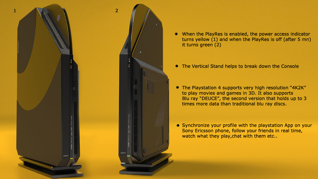 Playstation 4 Stand up Design