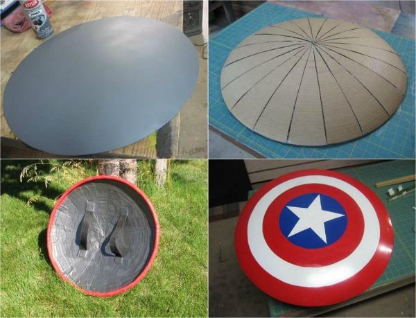 Primed Satellite Captain America Shield