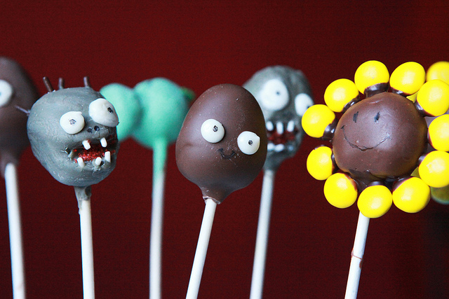 plants vs. zombies cake pops