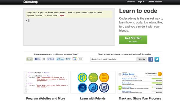 Codeacademy Web site