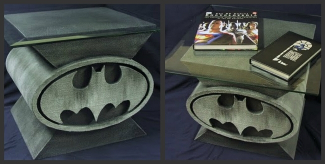 Custom Design Batman Bat-Symbol Coffee Table