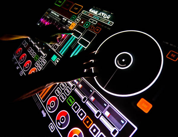 Emulator Multi-Touch DJ Interface