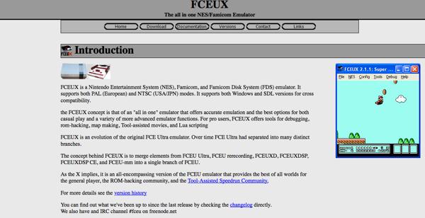 FCEUX Web page