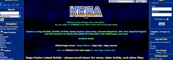 KEGA Web page