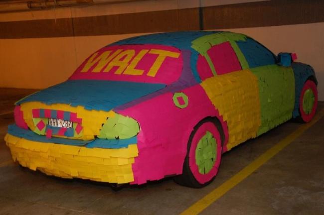 Post-it Auto Art
