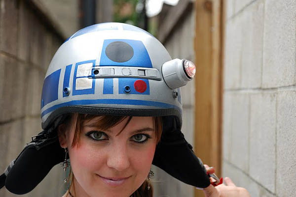 R2-D2 Bicycle Helmet