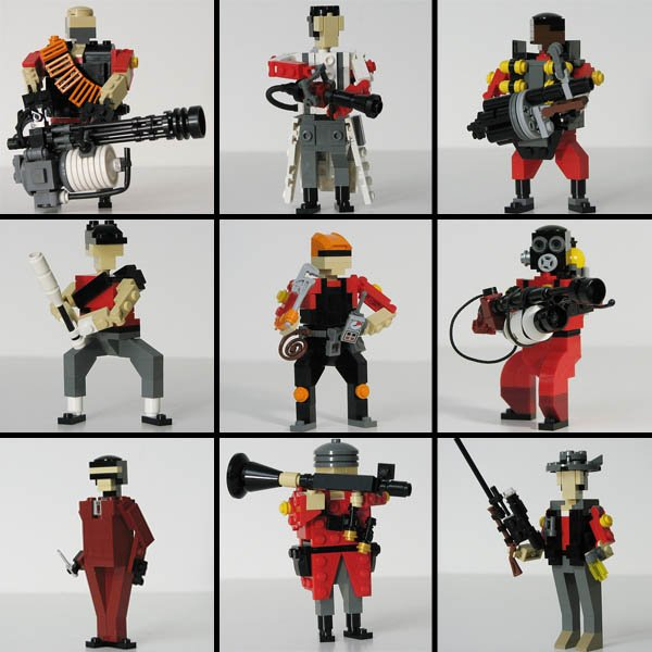 Team Fortress 2 LEGO Figures