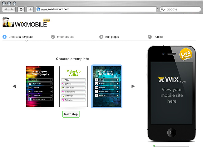 WixMobile Editor 1