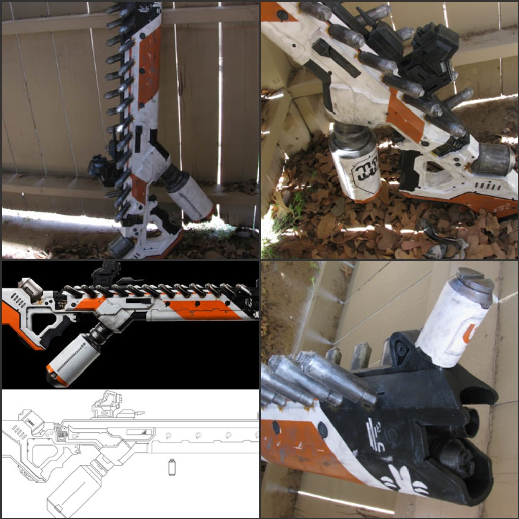 district 9 papercraft gun