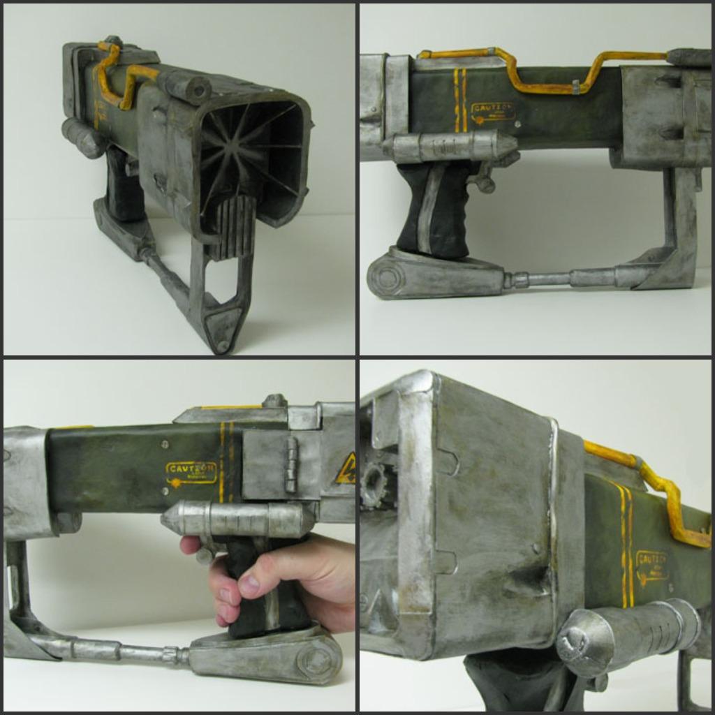 laser pistol fallout papercraft