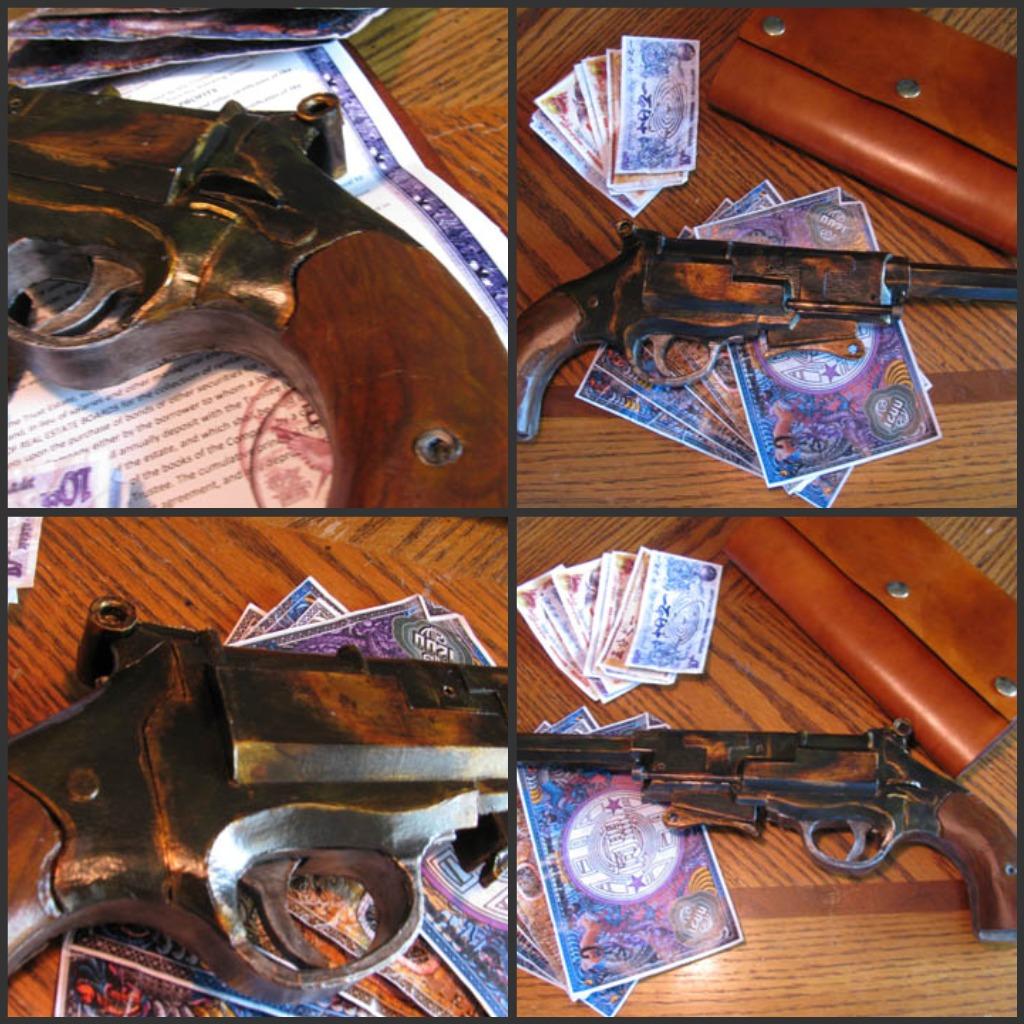 mal's pistol papercraft gun