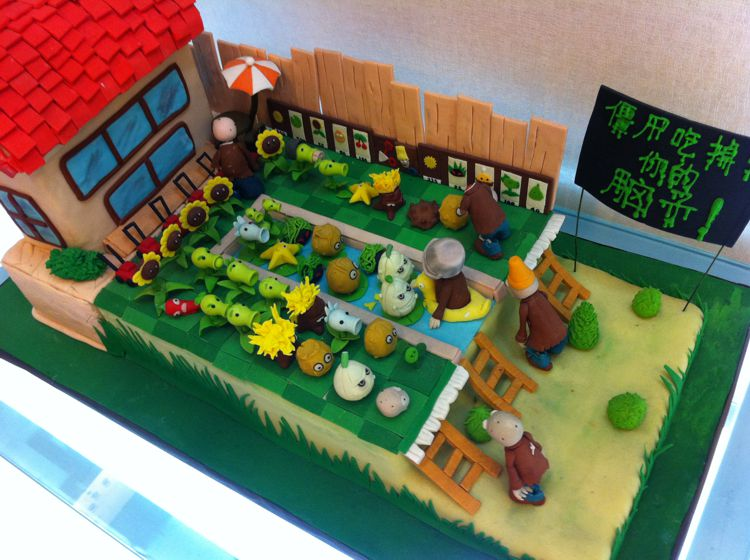 plants-vs-zombies cake