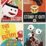 super mario propoganda posters