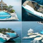 yacht tropical island