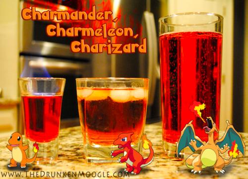 Charmander Evolution Cocktails