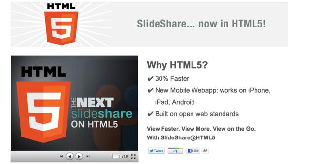 Slideshare HTML5 Gallery