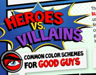 Comic Book Color Palette: Are You a Hero or a Villain? | Walyou