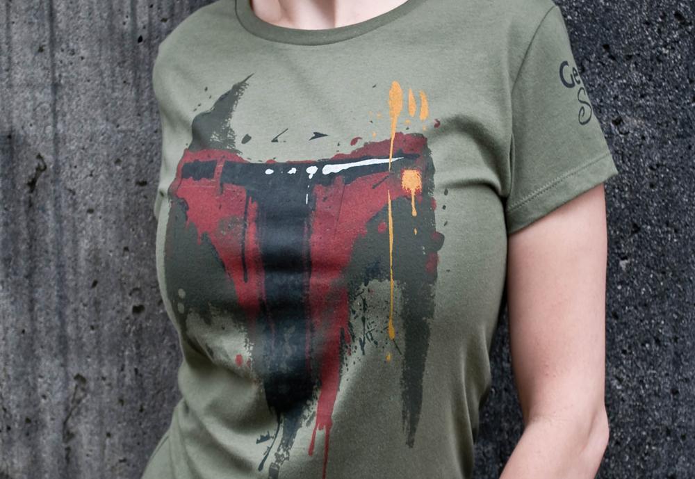boba fett grafetti t-shirt