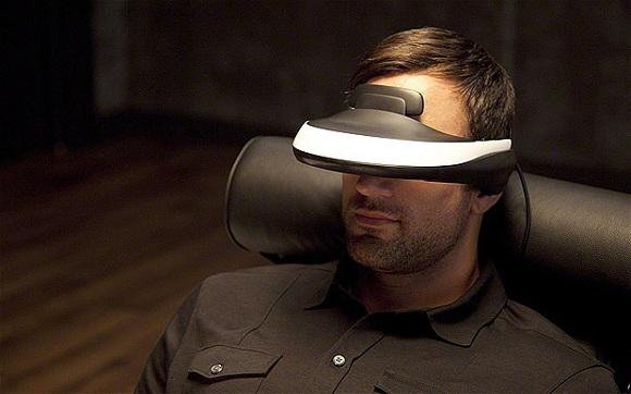 sony 3d head gear visor