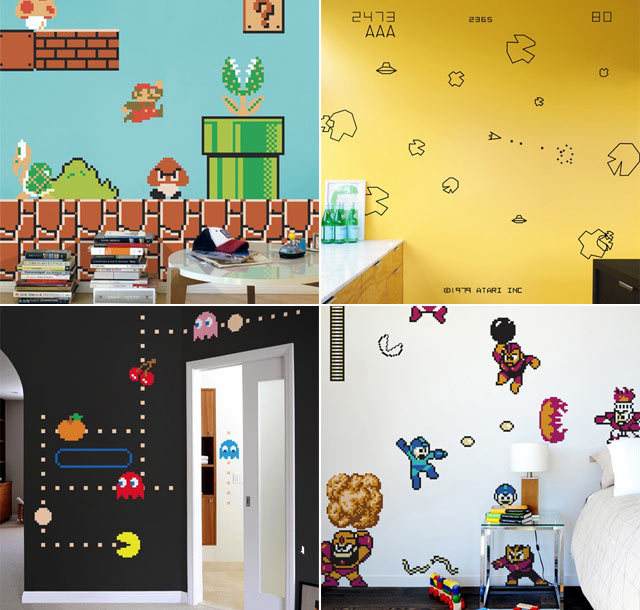 Awesome Blik Video Game Wall Decals