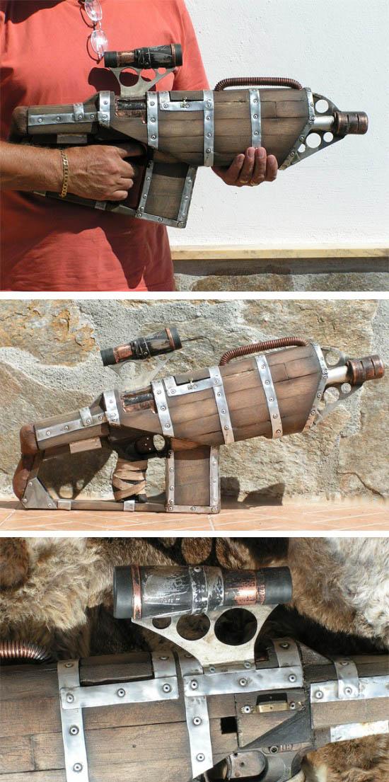 Steampunk Wooden NERF Gun