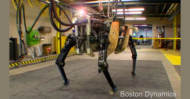 Alphadog Robot Moves Like An At At Walker From Star Wars Walyou