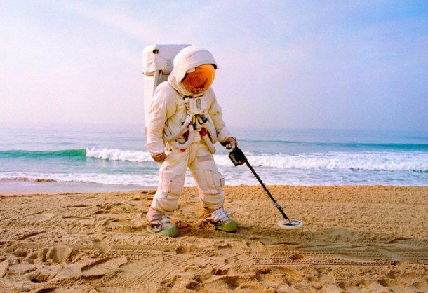 Astronaut at the beach