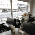 Astronaut in a diner