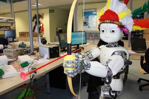 icub robot archery archer