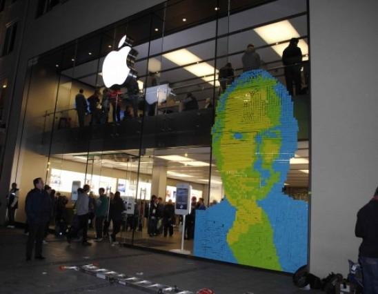 Steve Jobs Post-Its Mural
