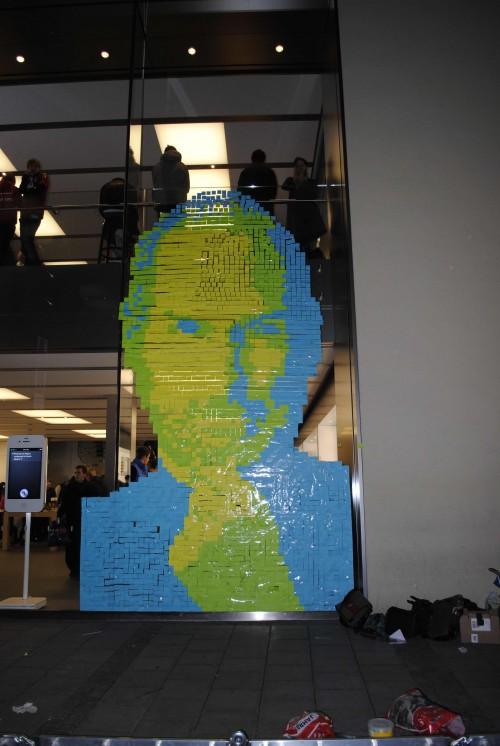 Steve Jobs Post-Its Mural 2