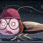 Meg Griffin on the body of a cockroach, by Joe Vaux