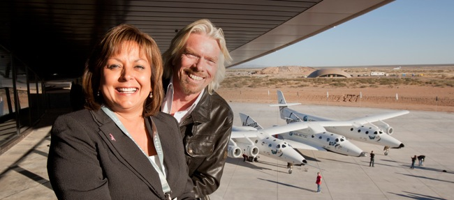 Sir Richard Branson and New Mexico Governor Susana Martinez