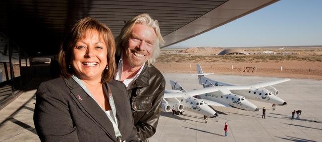 Sir Richard Branson and New Mexico Governor Susana Martinez