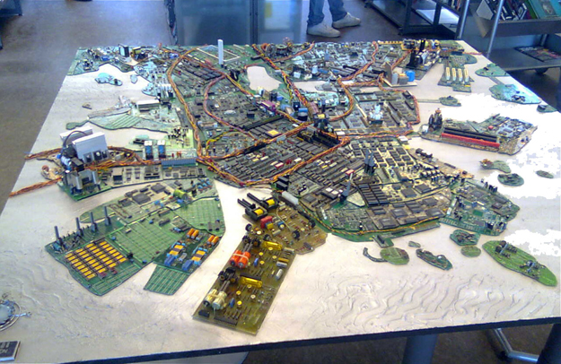 Circuit Board map of Helsinki