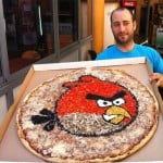 angry birds large pizza