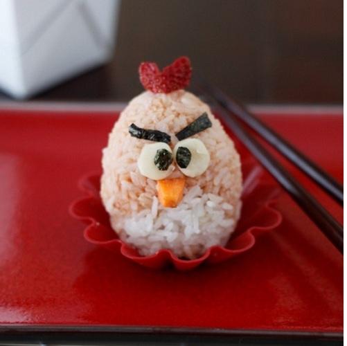 angry birds rice ball