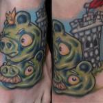 angry birds tattoo