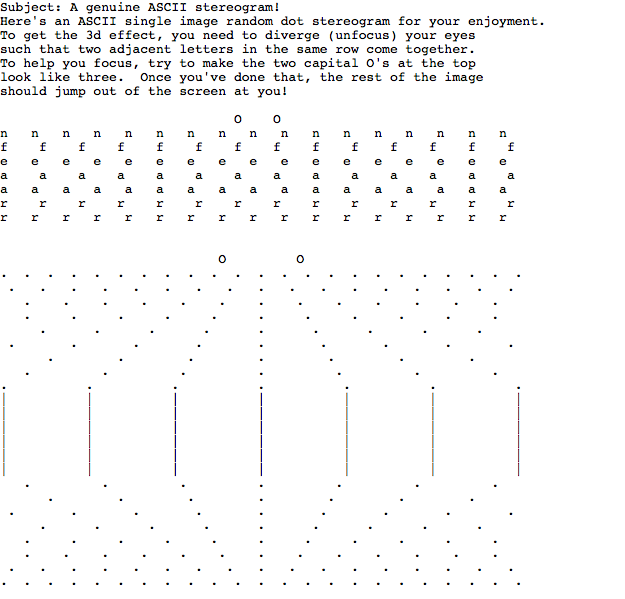 ASCII Art Sterograms