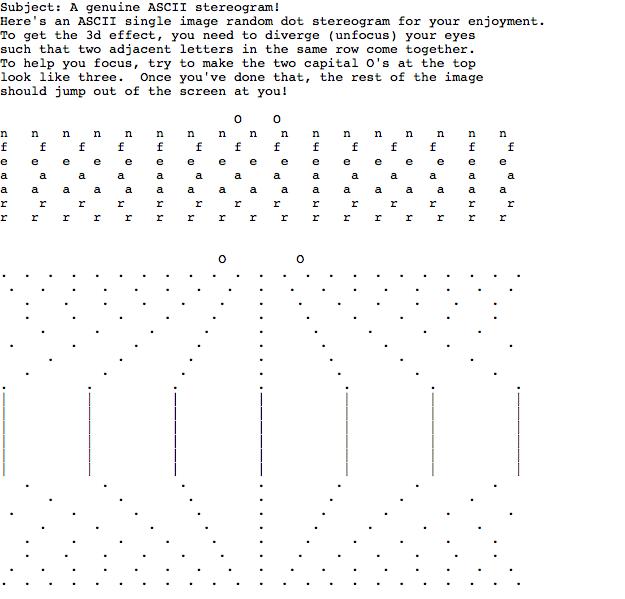 ASCII Art Sterograms