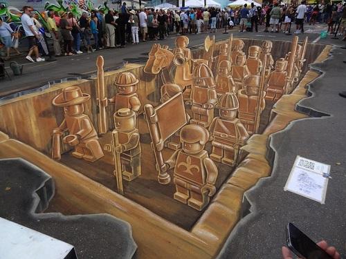 3d lego chalk terra cotta army