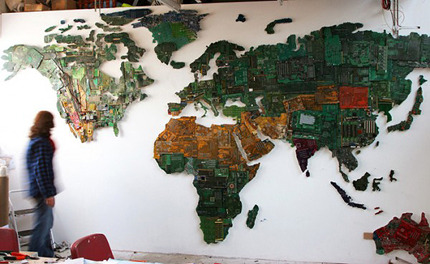 Circuit Board World Map