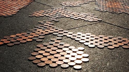 obsessions coin art sidewalk