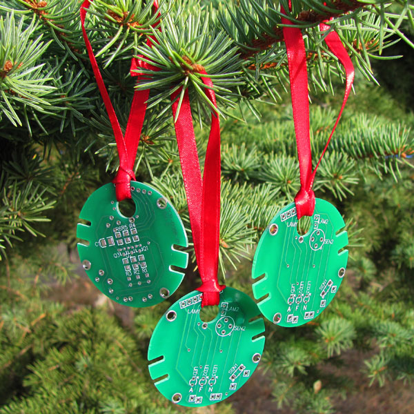 Circuit Board Christmas Ornaments