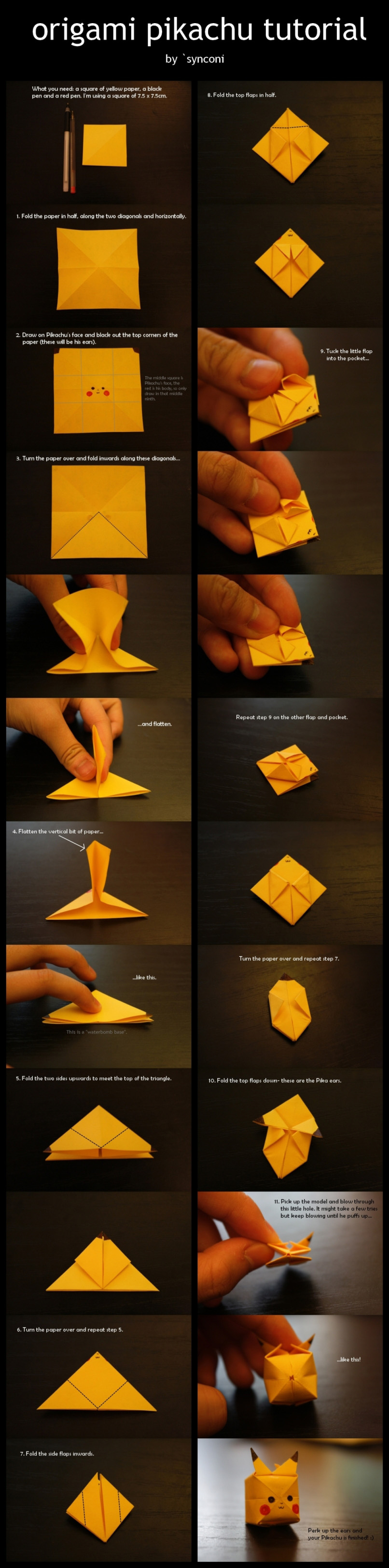 27 Marvelous Photo of Pikachu Origami 3d . Pikachu Origami 3d 3d ... | 3251x806