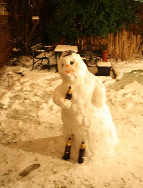 Drunk snowman 2
