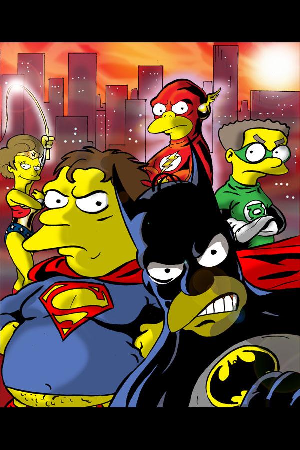 Simpsons-Justice-League